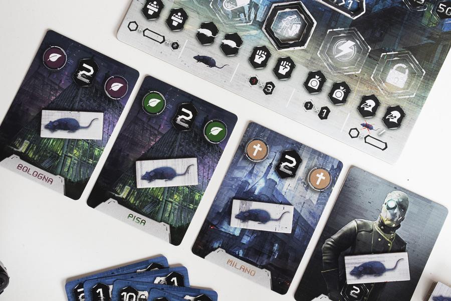 Influentia · Componentes del juego