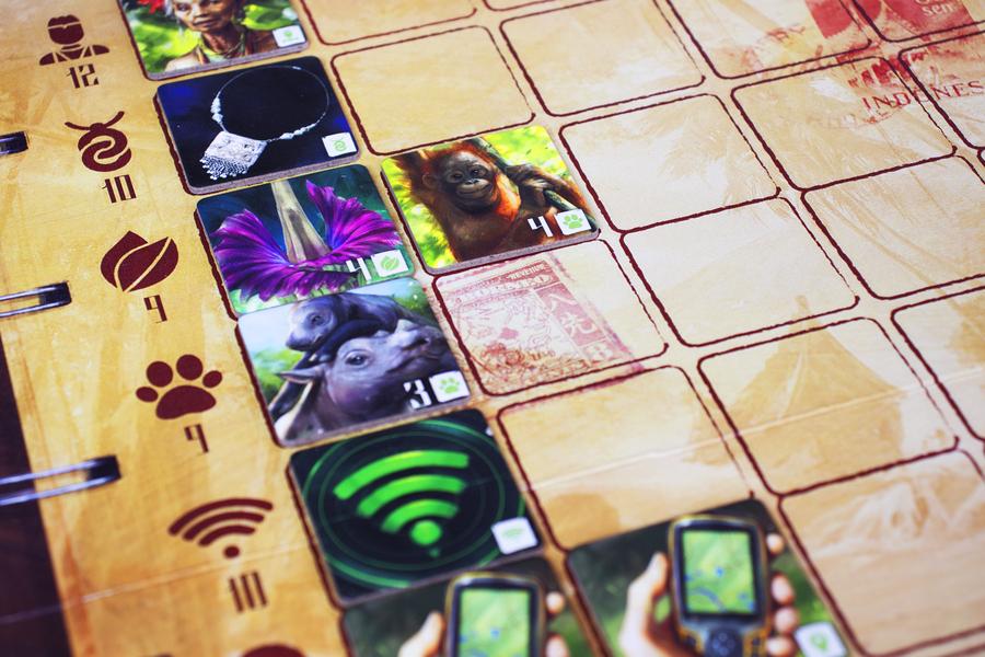 Sumatra · Componentes del juego